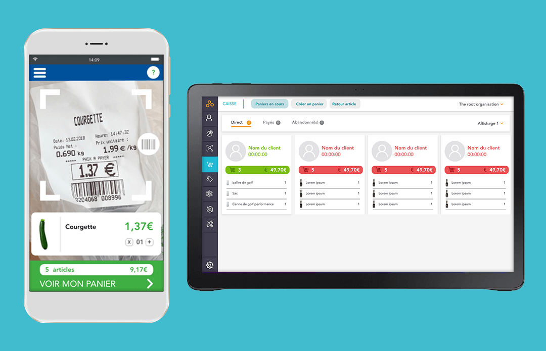 Application de self-checkout mobile pour les clients